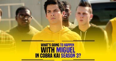 Miguel in Cobra Kai Season 3