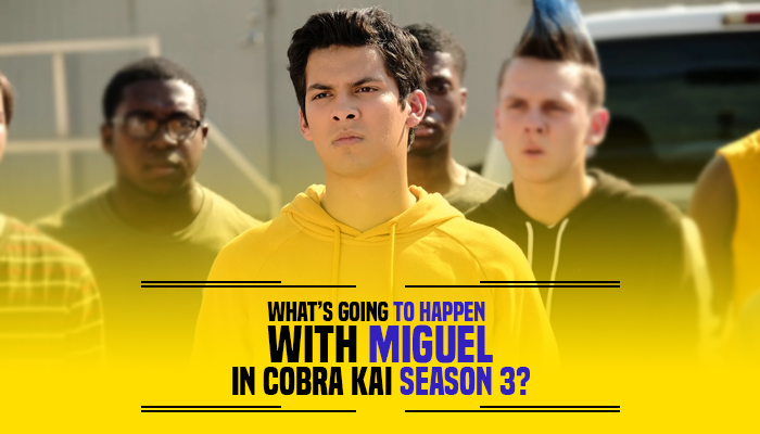 Miguel in Cobra Kai Season 3