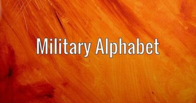 Learning the Military Alphabets